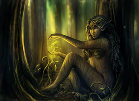 Dryad - Commission by RebeccaWeaver