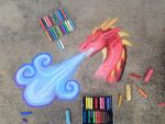 Chalk art- blue breather by CrystalCircle