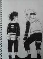 Minato and Obito by inspired118