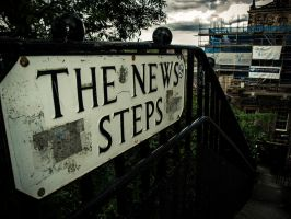 The News Steps, Edinburgh by d-igitalsuicide
