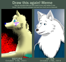 Draw this Again - My OC into a Werewolf by JackFrostOverland