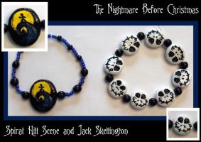 Nightmare Themed Bracelets by Geisha-Neko