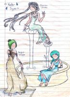 Sailor Zodiac - Water Signs by TimeStar