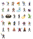 X-Men Sprites by travo89