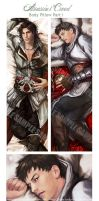 Altair n Ezio Pillow design by Brilcrist