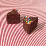 Chocolate Sprinkle Cake Slice Charms by FaeElixir