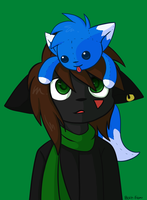Tukari And A Bolt Plushie by Bolt-Foxi