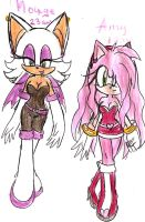 Rouge and Amy by LauryPinky972