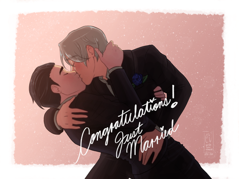 Victuuri Wedding Kiss by URESHI-SAN