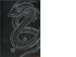 Shenron silver on black by Shipht