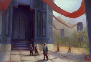 Temple of Ordeal Courtyard by neonoir