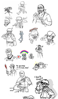TF2 doodle dump by BUBBLE89
