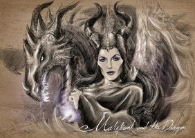 Maleficent and the dragon by BenjavuN
