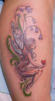 Girl with heart tattoo by tpenttil