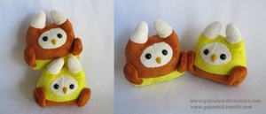 Candy Corn Owls by gojowind