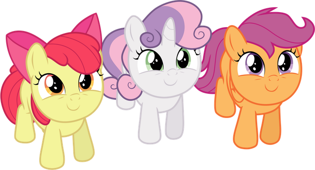 Looking Up - Cutie Mark Crusaders by TomFraggle
