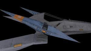 SNES Arwing Right closeup by gamios
