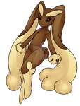 Lopunny by square-panda