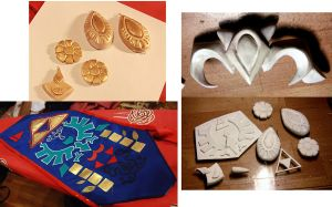 Princess Zelda: Ocarina of time  costume progress by Haruhi-tyan