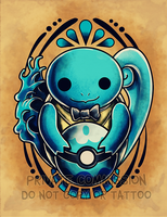 Squirtle Tattoo commission by RetkiKosmos