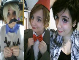 Collage of my BBC cosplay by Artieukchan