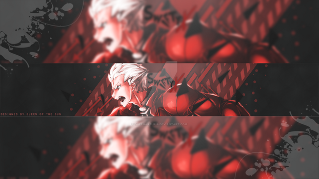 Youtube banner - Archer [Fate\stay night UBW] by QueenArturia