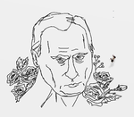 Putin with Flowers Doodle by DestrctiveEmily
