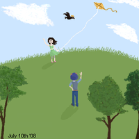 Kite flying by RachelButton
