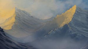 Dem mountains by Chillay