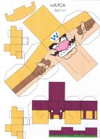 Wario cubeecraft by E-419
