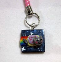 Nyan Cat cell charm by carmendee