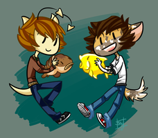 Dylan and Pie by rivliex