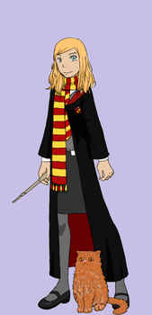 Me at HogWarts during Winter by LadyQuestis