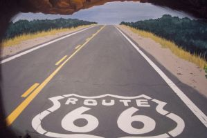Route 66 road by SethWolfshorndl