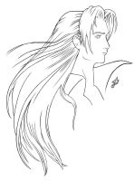 Sephiroth Lineart by white-materia
