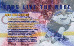 April 2013 St. Louis Blues Calendar Wallpaper by RealBadRobot