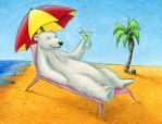 Tropical Polar Bear by tursiart