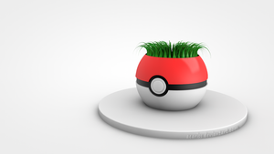 Pokeball Plant Pot by PixelPandaa