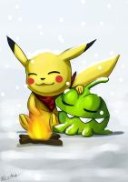 Pokemon Advent 3 Pikachu And On Nom by ErgoAsch