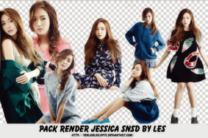 Pack Render Jessica SNSD By Les by yenlonloilop7c