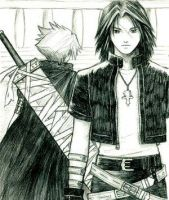 Cloud and Leon by kingdomhearts