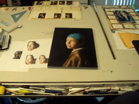 portrait wip and desk by charles-hall
