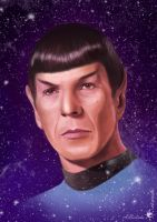 Spock (digital painting) by UnicatStudio