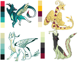 dragon palettes by Karry-Bird
