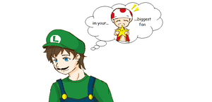 Luigi- that one toad by 12luigi