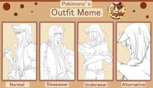 pokimono clothes meme-Rigel by vanilla-rain