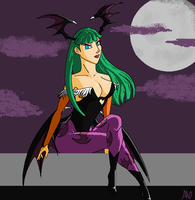 Morrigan Aensland by kalamitee