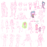 Doodle / Figure Drawing Sketch Dump 8 by calponpon