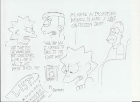 Angry Lisa Simpson Doodles by Cartuneslover16
