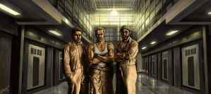 Prison game art by aaronwty